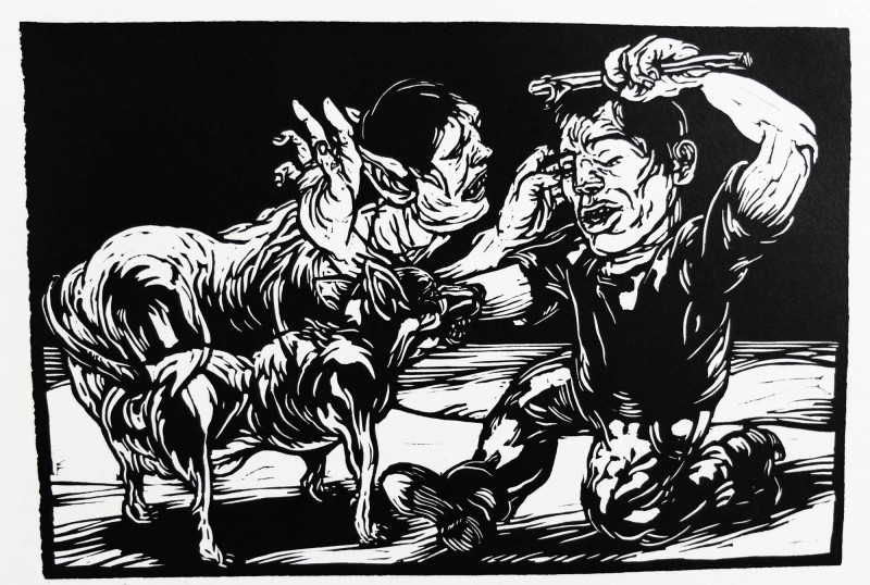 Dog_Man_23x35cm_2002_Carl_Krull