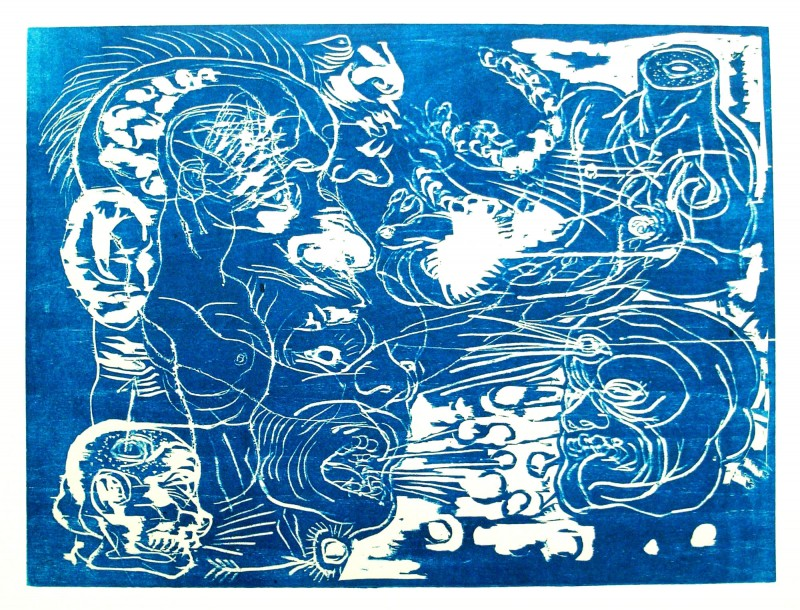 Japan_graphic_Carl_Krull_Wood-3-blue-22x30cm