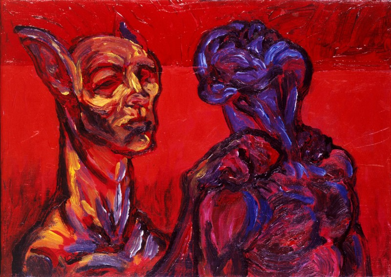 Sphinx_With_Friend_33x46cm_2000_Carl_Krull