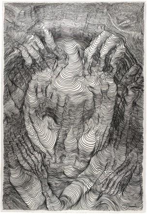 Carl Krull -Olmec 2 - 2014 - pencil on paper - drawing